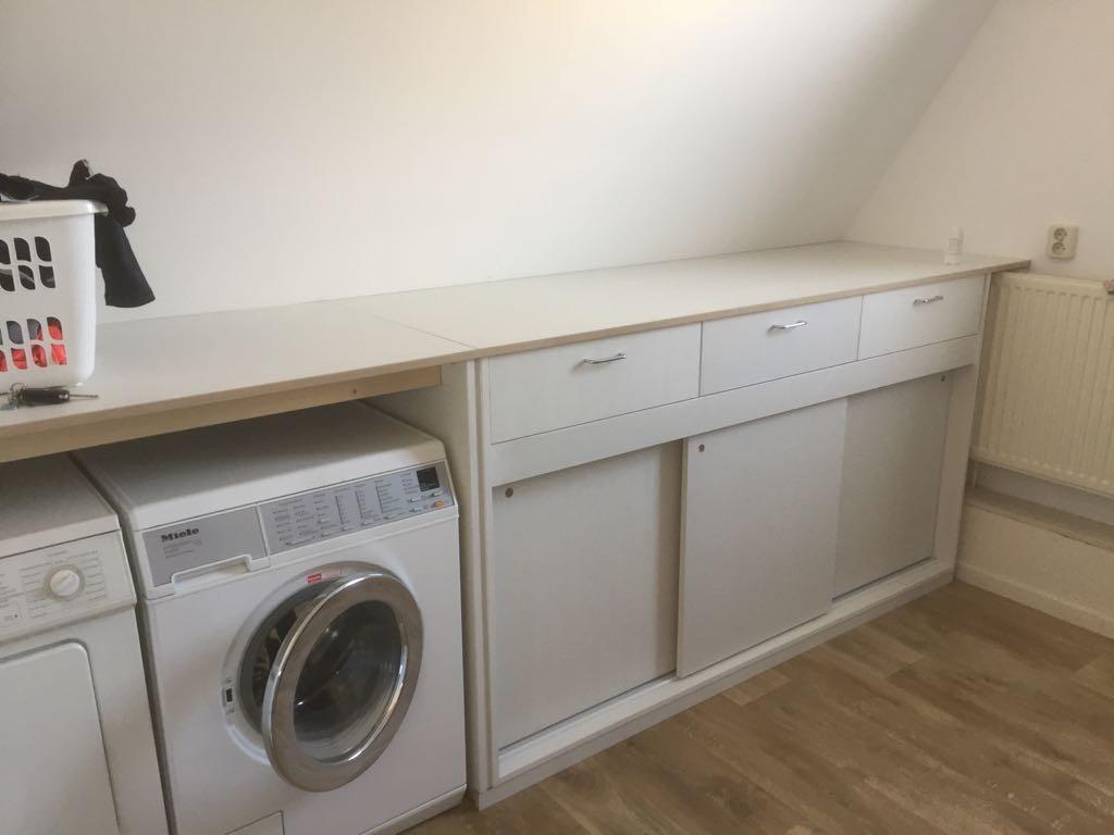 Ombouwkast Wasmachine Met Schuifdeuren